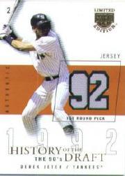 2004 SkyBox LE History Draft 90's Jersey #DJ Derek Jeter/92