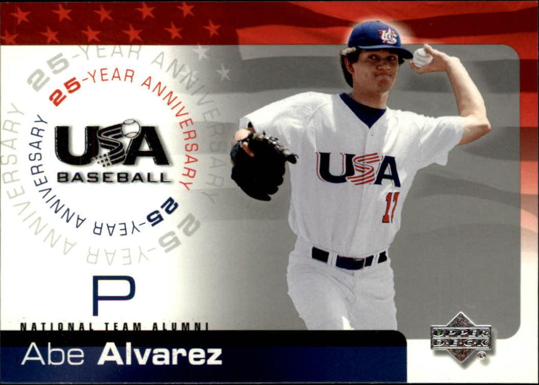 2004 USA Baseball 25th Anniversary #4 Abe Alvarez