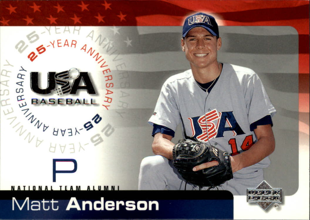 2004 USA Baseball 25th Anniversary #5 Matt Anderson