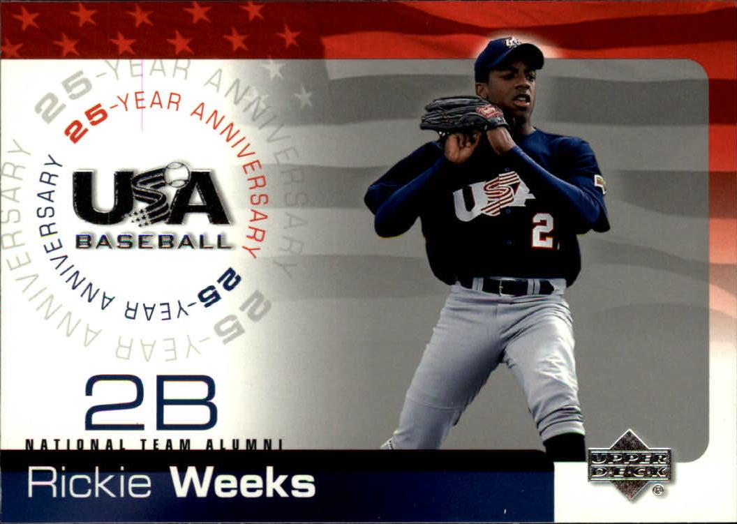 2004 USA Baseball 25th Anniversary #22 Rickie Weeks