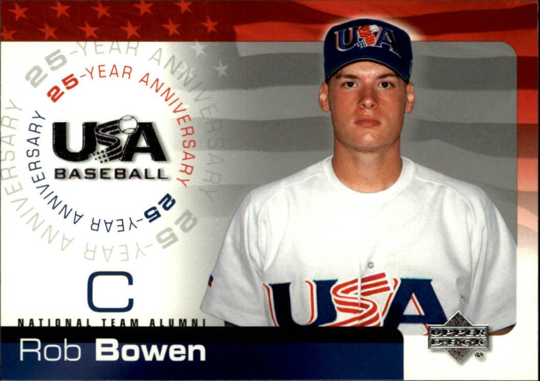 2004 USA Baseball 25th Anniversary #23 Rob Bowen