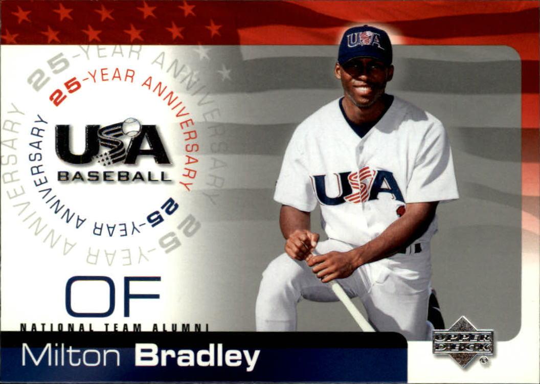 2004 USA Baseball 25th Anniversary #24 Milton Bradley
