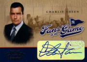 2004 Playoff Honors Fans of the Game Autographs #251 Charlie Sheen SP/250