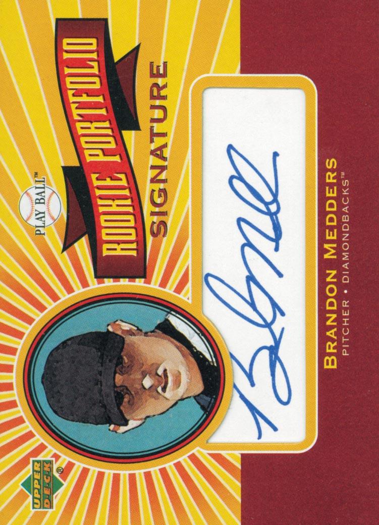 2004 Upper Deck Play Ball Rookie Portfolio Signature #BM Brandon Medders