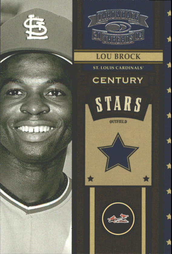 2004 Throwback Threads Century Stars #28 Lou Brock