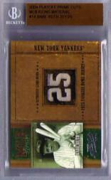2004 Prime Cuts MLB Icons Material #MLB14 Babe Ruth Jsy/25