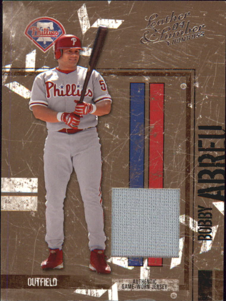2004 Leather and Lumber Materials Jersey #111 Bobby Abreu/250