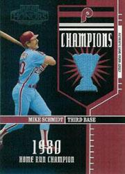 2004 Playoff Honors Champions Jersey #4 Mike Schmidt/100