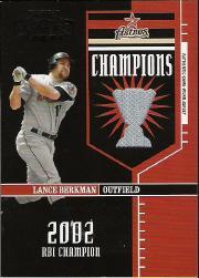 2004 Playoff Honors Champions Jersey #19 Lance Berkman/250