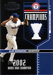 2004 Playoff Honors Champions Jersey #20 Alex Rodriguez Rgr/250