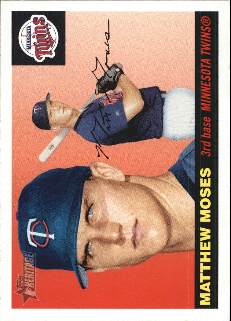 2004 Topps Heritage #124 Matthew Moses SP RC