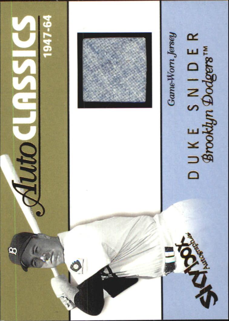 2004 SkyBox Autographics Autoclassics Memorabilia #DS Duke Snider Jsy