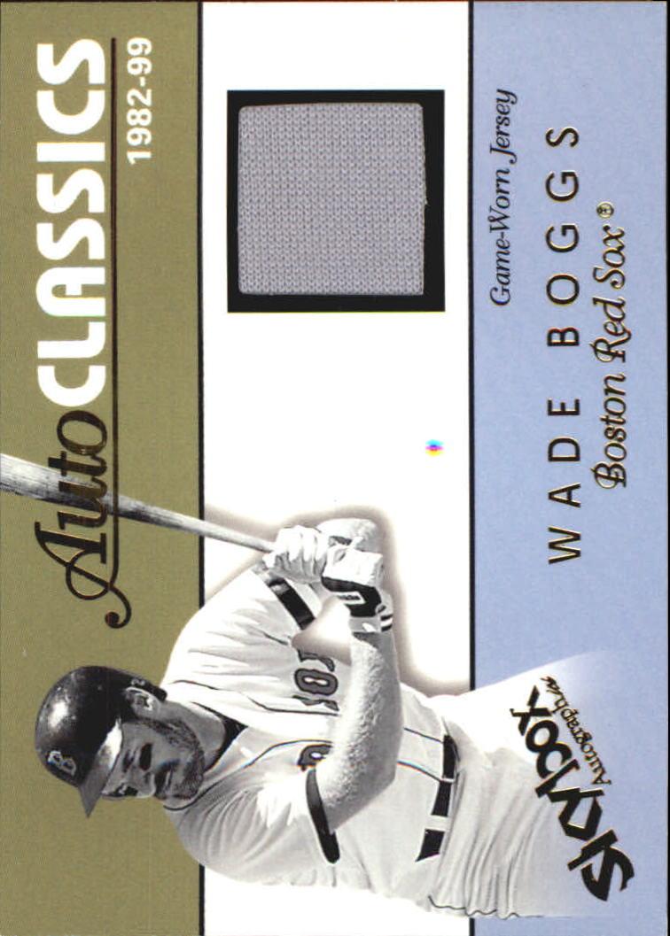 2004 SkyBox Autographics Autoclassics Memorabilia #WB Wade Boggs Jsy