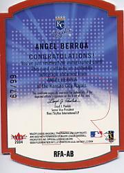 2004 SkyBox LE Rare Form Autograph Copper #8 Angel Berroa back image