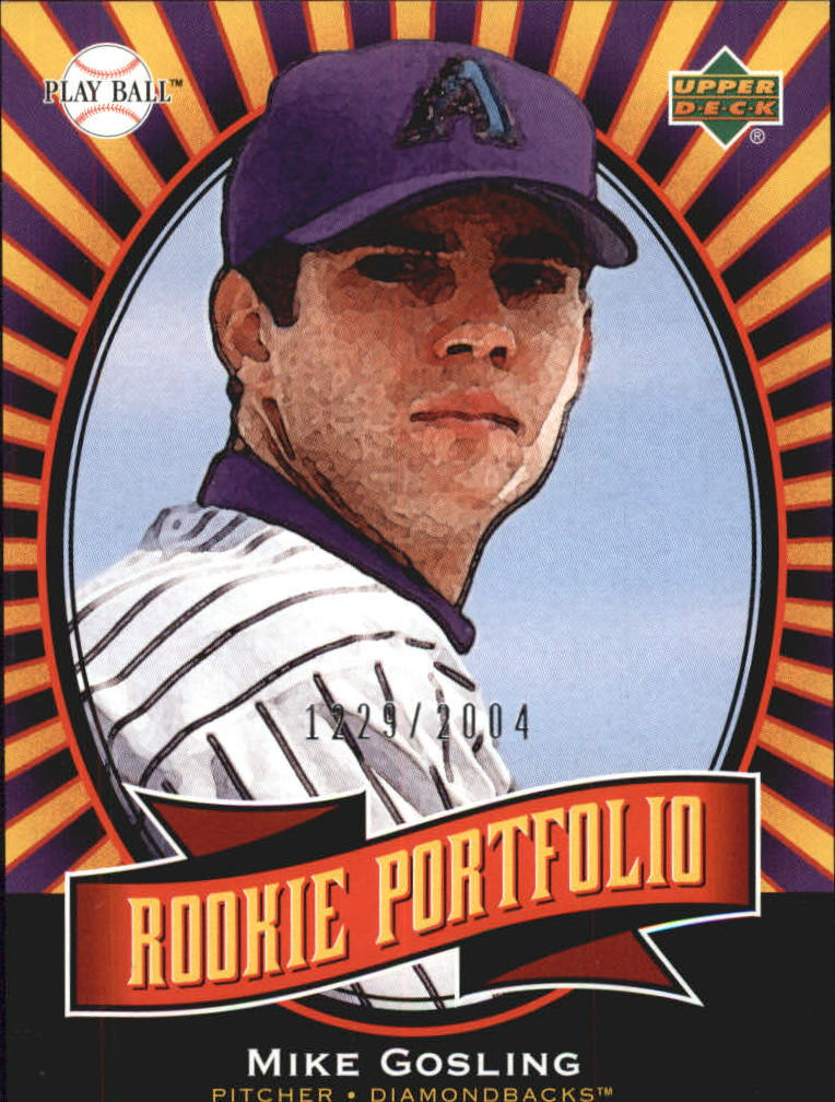 2004 Upper Deck Play Ball #153 Mike Gosling RP RC