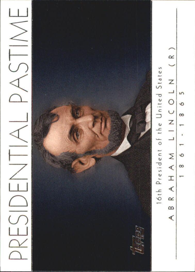2004 Topps Presidential Pastime #PP16 Abraham Lincoln