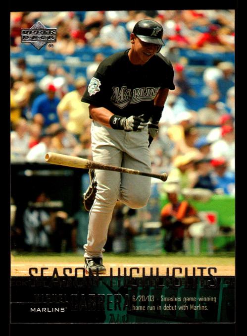 2004 Upper Deck #269 Miguel Cabrera SH CL