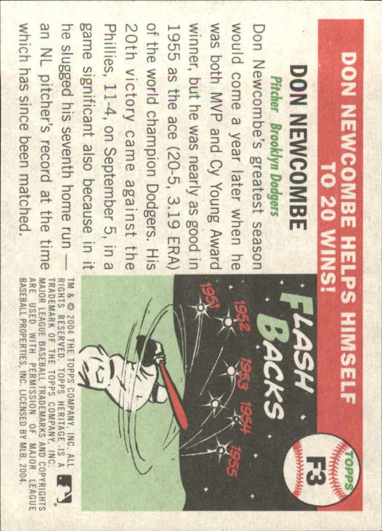 2004 Topps Heritage Flashbacks #F3 Don Newcombe back image