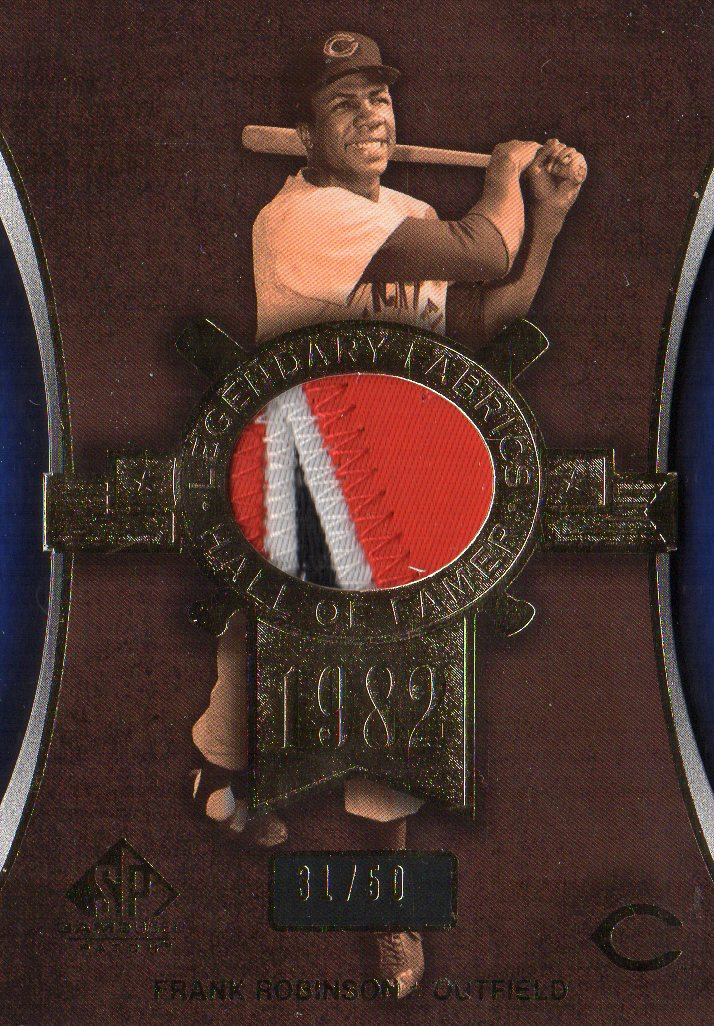 2004 SP Game Used Patch Legendary Fabrics #FR1 Frank Robinson Reds/50