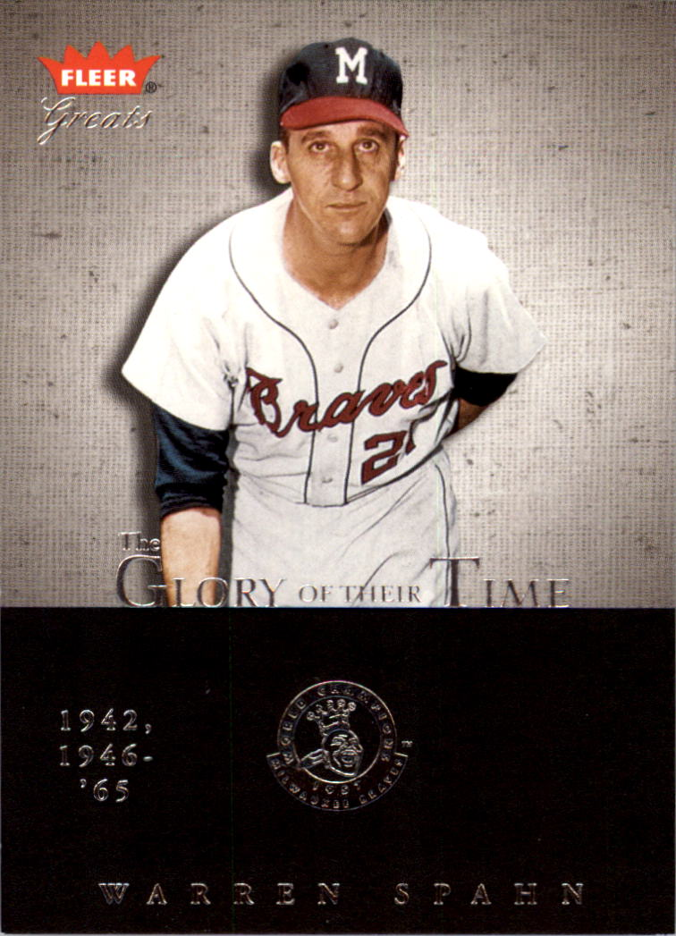 2004 Greats of the Game Glory of Their Time #33 Warren Spahn/1953