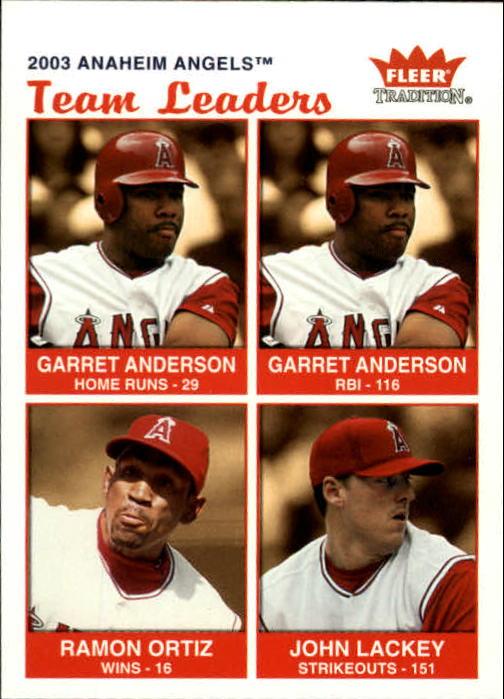 2004 Fleer Tradition #11 Anderson/Ortiz/Lackey TL