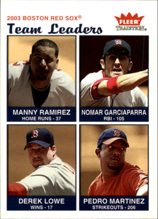 2004 Fleer Tradition #15 Manny/Nomar/Lowe/Pedro TL