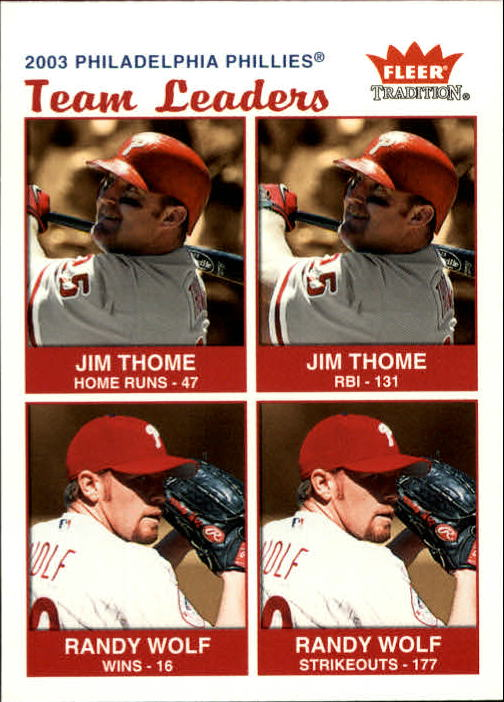 2004 Fleer Tradition #32 Thome/Wolf TL