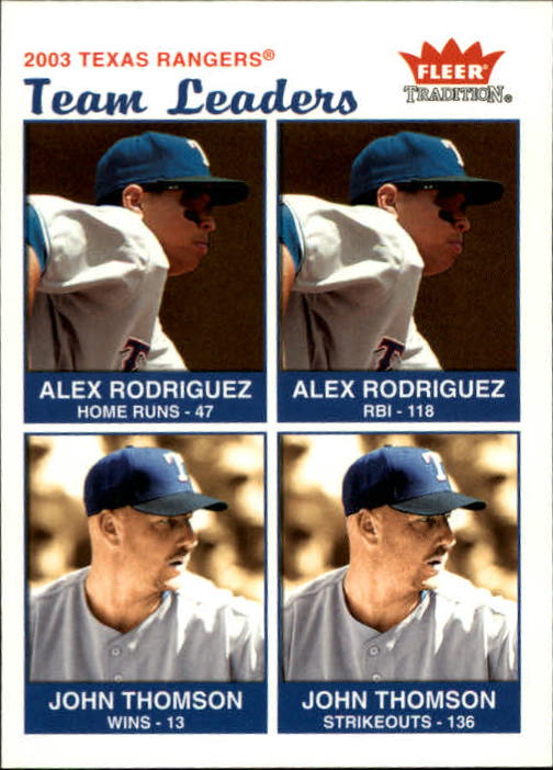 2004 Fleer Tradition #39 A.Rodriguez/Thomson TL