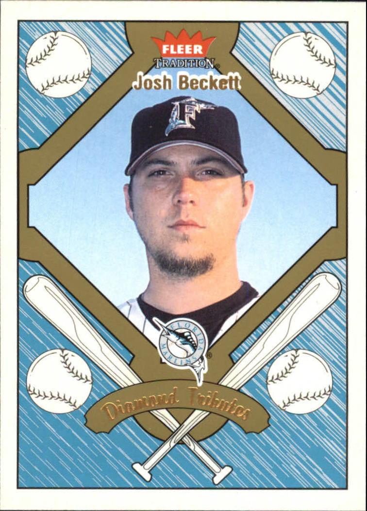 2004 Fleer Tradition Diamond Tributes #17 Josh Beckett
