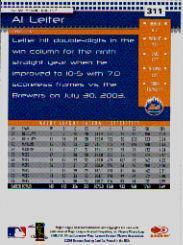 2004 Donruss #311 Al Leiter back image