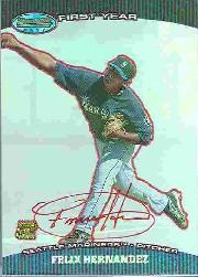 2004 Bowman's Best Red #FH Felix Hernandez FY AU