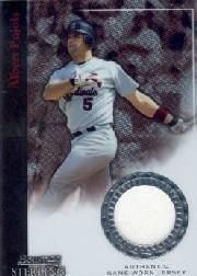 2004 Bowman Sterling #AP Albert Pujols Jsy