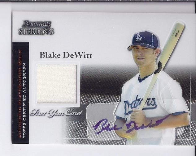 2004 Bowman Sterling #BD Blake DeWitt AU Jsy RC
