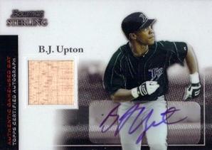 2004 Bowman Sterling #BU B.J. Upton AU Bat