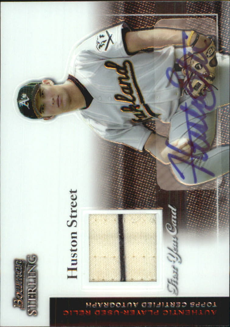 2004 Bowman Sterling #HS Huston Street AU Jsy RC