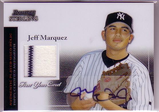 2004 Bowman Sterling #JM Jeff Marquez AU Jsy RC