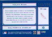 2004 Absolute Memorabilia Tools of the Trade Blue #106 Nolan Ryan Angels back image