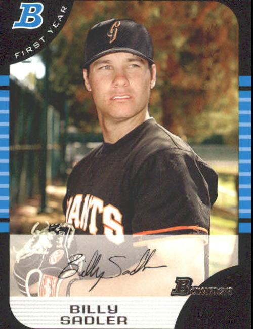 2005 Bowman #319 Billy Sadler FY RC
