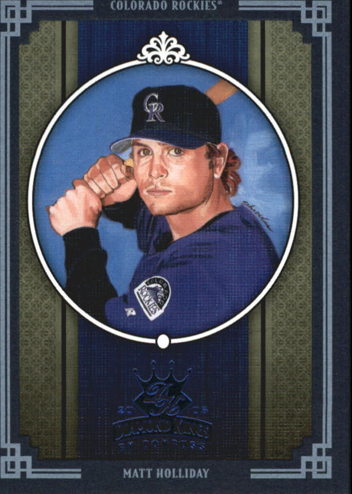 2005 Diamond Kings Framed Blue #86 Matt Holliday