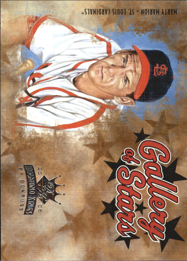 2005 Diamond Kings Gallery of Stars #19 Marty Marion