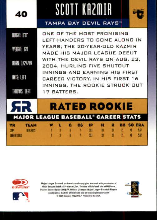 2005 Donruss #40 Scott Kazmir RR back image
