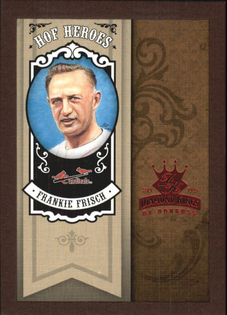 2005 Diamond Kings HOF Heroes Framed Red #75 Frankie Frisch