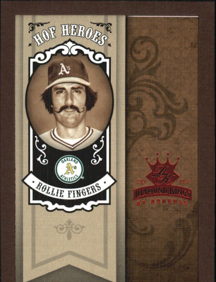 2005 Diamond Kings HOF Heroes Framed Red #HH91 Rollie Fingers