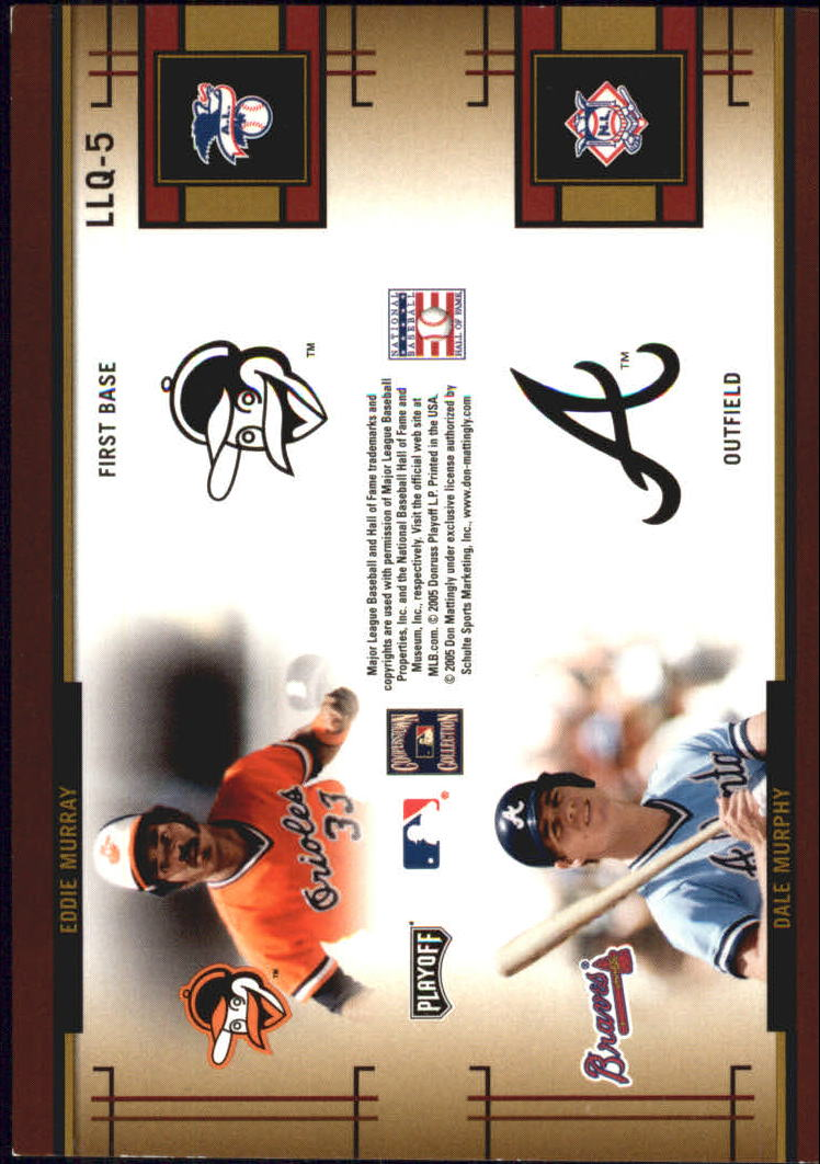 2005 Playoff Prestige League Leaders Quad #5 Matt/Park/Murray/Murphy back image