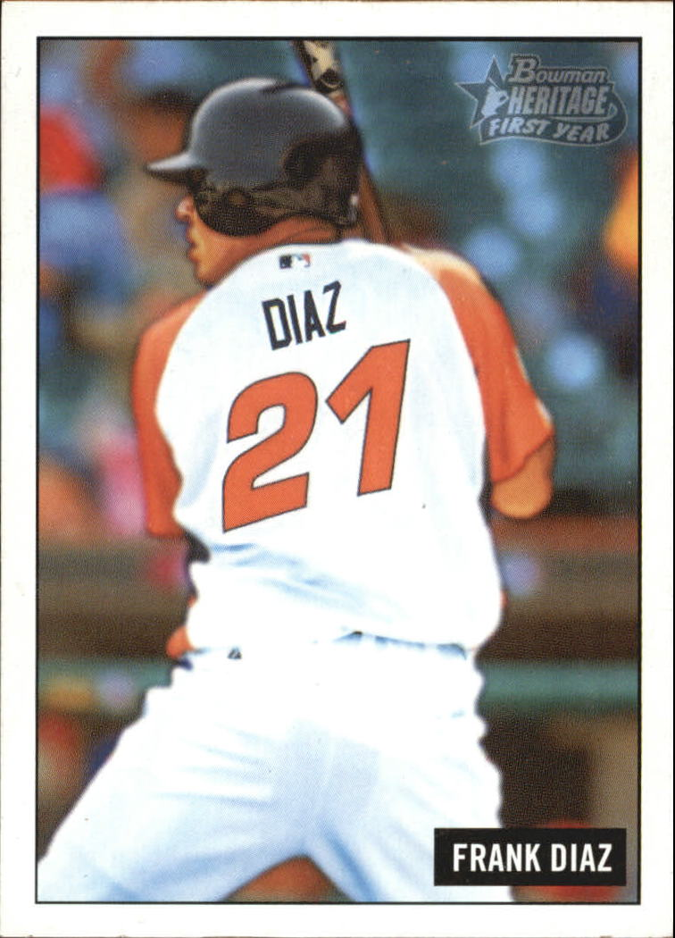 2005 Bowman Heritage #216 Frank Diaz FY RC