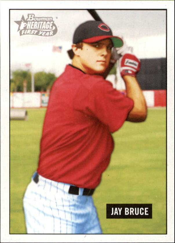 2005 Bowman Heritage #343 Jay Bruce FY SP RC