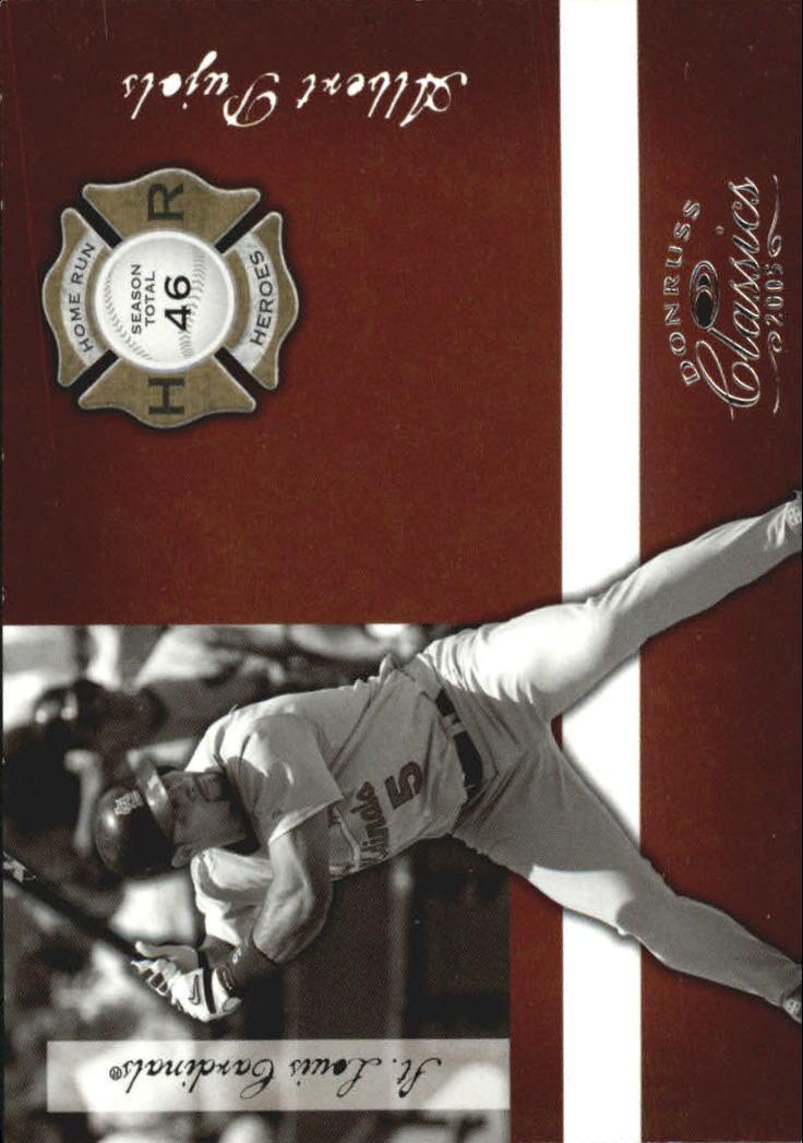 2005 Donruss Classics Home Run Heroes #16 Albert Pujols
