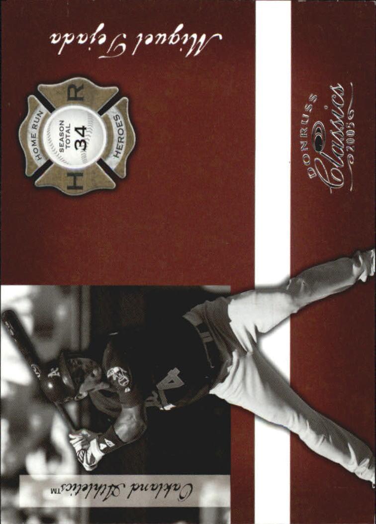 2005 Donruss Classics Home Run Heroes #42 Miguel Tejada