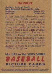 2005 Bowman Heritage Mini #343 Jay Bruce back image
