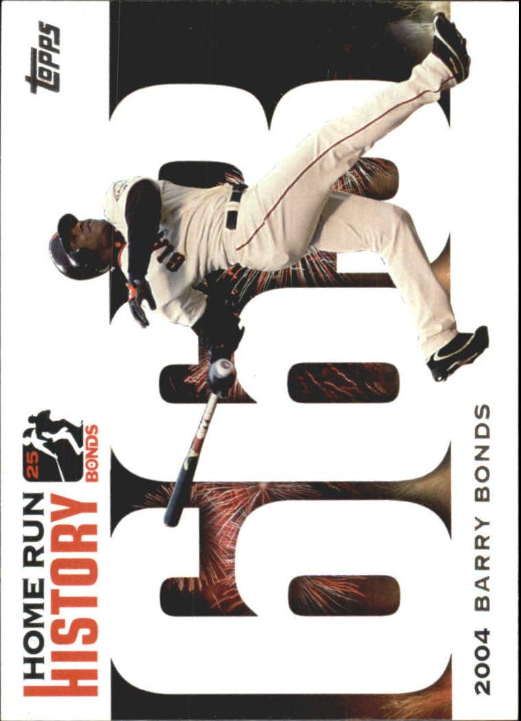2005 Topps Barry Bonds Home Run History #663 Barry Bonds HR663